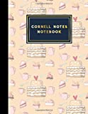 """Cornell Notes Notebook: Cornell Note Pads, Cornell Notebook Paper, Note Taking Notebook Paper, Cute Baking Cover, 8.5\"""" x 11\"""", 200 pages"""
