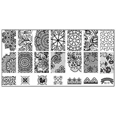 Nail Art Stamping Plates Oyedens 1PCS Sello De UñAs Estampado Imagen Plato ImpresióN Clavo De La Plantilla Del Arte 6 cm * 12 cm