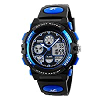 Skmei Sport Watch For Boys Analog-Digital PU Leather - J1163