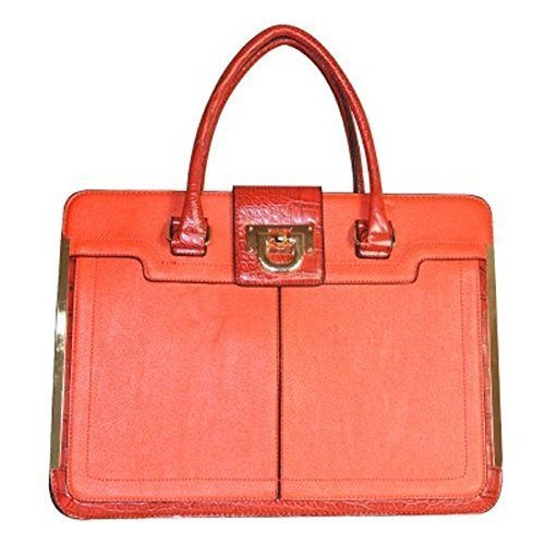 Haute For Diva  Office tote, Damen Tote-Tasche Rot rot (Rot Croc Faux)