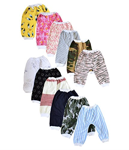 ISAKAA Baby Cotton Pyjamas, 6-12 Months (Multicolour) - Pack of 12