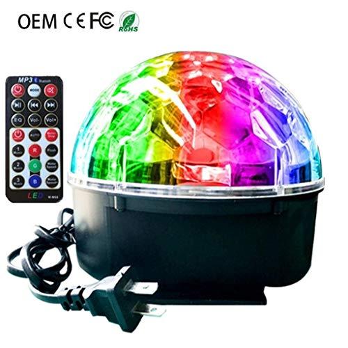 Disco kugel, 9 Farbe Led Kristall Magische Kugel-Licht-Sprachsteuerung Drehen Bunte Lichter Grelle Farben Weihnachten Kleine Lichter stage disco F1 -