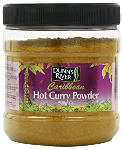 Dunns River Caribbean Hot Curry Powder Large 500 g (Pack of 3)