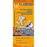 Michelin Regionalkarte Italien Trentino-Südtirol, Venetien 1 : 400 000: Friaul-Julisch Venetien, Emilia-Romagna. Stadtpläne: Venezia, Verona, Bologna. Ortsverzeichnis. Entfernungen und Fahrzeiten