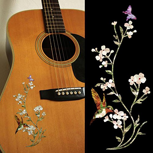 B-168ITG Inlay Stickers, In The Garden (Flowers Hummingbird Butterfly) (WS) -