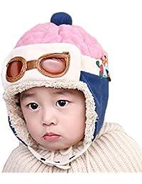 Gorra de invierno unisex para niños, de WITERY, gorra cálido, diseño de piloto