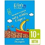 Cuisine bio Bananes & Raisins de Ella Nibbly Fingers 5 x 25g