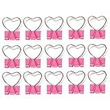NUOBESTY 15 pezzi carino graffetta rosa coda cuore scava fuori clip cartella note lettera clip biglietto