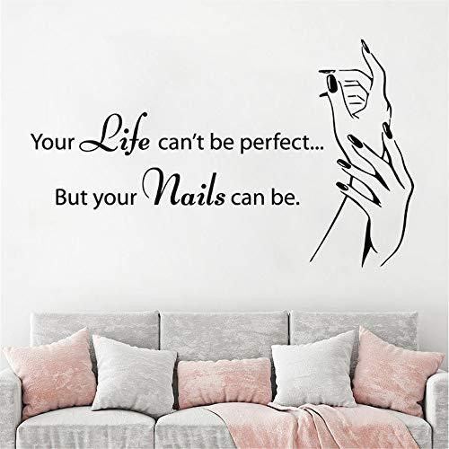 Mddrr manicure shop wall sticker nail art polish adesivo da parete per unghie nail salonadesivo per finestra nail art smontabile sticker96x57cm