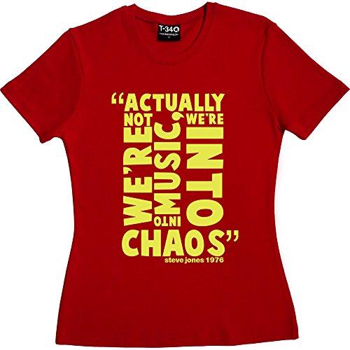 T34 Steve Jones Chaos Quote Women's T-Shirt
