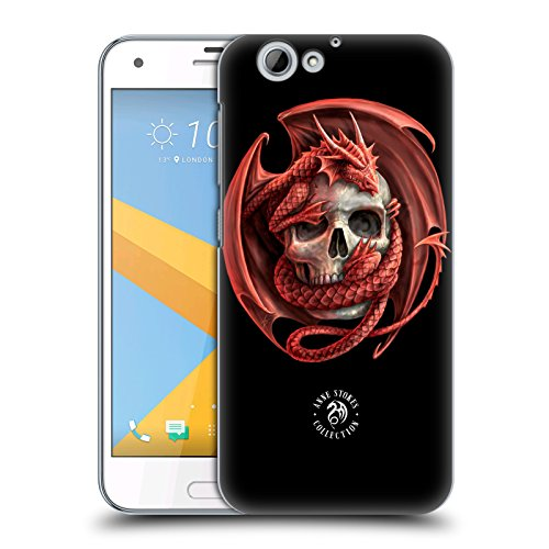 Official Anne Stokes Dragon and Skull Fire Tribal Hard Back Case for HTC One A9s