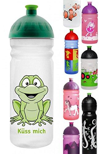 ISYbe Trinkflasche 700ml Küss mich, weiß-transparent, schadstofffrei, spülmaschinengeeignet, auslaufsicher