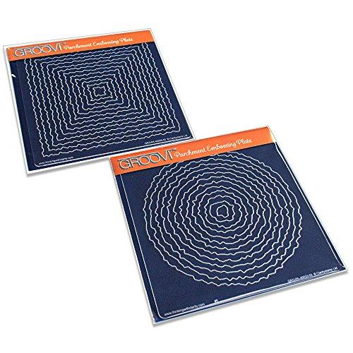 Claritystamp Grundlegende Formen: Kreis &Amp; Square (Deckel) Groovi Platten (2er-Set) Square Platte