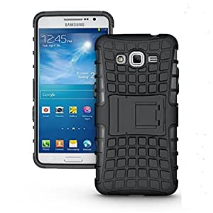 Anmol Shock Proof Protective Rugged Armor Super Hybrid Heavy Duty Back Case Cover For Samsung Galaxy Grand Prime G530 (Black)