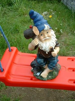 4 Lustige Gartenzwerge Gnome 22cm NEU Gartenzwerg NEU - 4