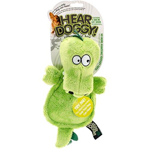 Hear Doggy Hundespielzeug, Modell Krokodil, mit Kauschu… | 00883803042374