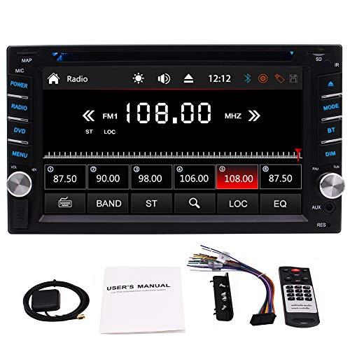 EINCAR In Dash Double 2 Din 6.2 Zoll Auto-Stereoradio Auto-DVD-CD-Player HD 1080P Bluetooth Autoradio-DVD-Spieler GPS-Navigation Subwoofer CAM-IN USB SD SWC mit Fernbedienung & 8GB MAP-Karte