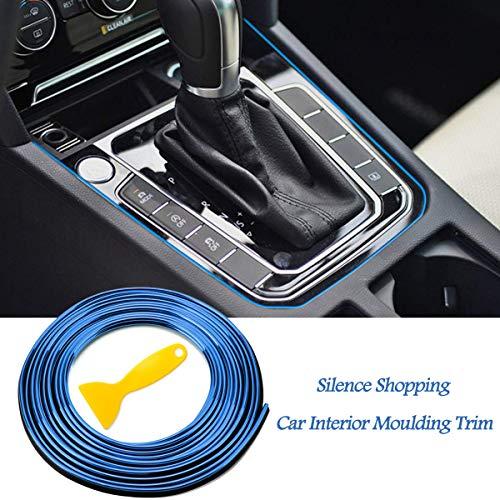 Silence Shopping 5M 3D bricolage automobile moteur de voiture intérieur décoration extérieure moulage Trim ligne de bande Autocollant (Blue)