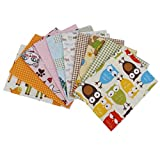 Imported Pack Of 10 DIY Squares Cotton C...