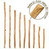 Zaunlatten aus Haselnuss • Zaunbretter 5-6 x 120cm zum Selbstbauen von Holzzaun, Lattenzaun, Staketenzaun bzw. Kastanienzaun