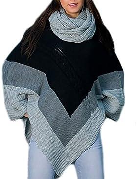 Las mujeres señoras calientes poncho de punto Jumper Sweater chaqueta capa Wrap chal Mfaz Morefaz Ltd