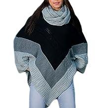 Morefaz Las Mujeres señoras Calientes Poncho de Punto Jumper Sweater  Chaqueta Capa Wrap Chal Mfaz Ltd ad8cf7c75c7