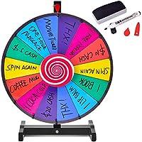 COSTWAY Ruleta de Juego con Soporte Puede Escribir y Limpiar con Bluma Borrable para Fiesta Juguete Premio Rueda (18 Pulgadas)
