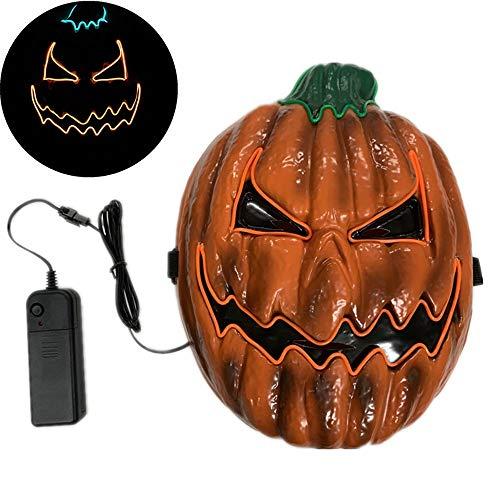 Kostüm Draht Kinder El - Halloween Maske Scary LED Leuchten Kürbis Gesichtsmasken mit EL Draht Halloween Kostüm Cosplay Masken für Erwachsene Frauen Kinder Kinder Halloween Kostüm Party Dekorationen / Gefälligkeiten / Zubehör