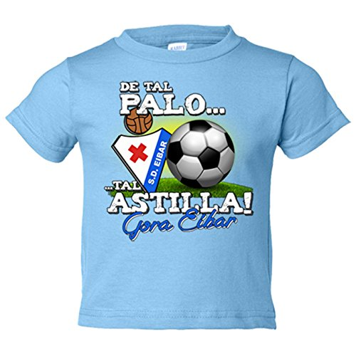 Camiseta niño de tal palo tal astilla Gora Eibar - Celeste, 12-18 meses