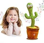 لعبة الصبار المخملية الراقصة والالكترونية، لعبة تعليمية مبكرة مضحكة للاطفال، لعبة مغنية على شكل صبار، كديكور ا