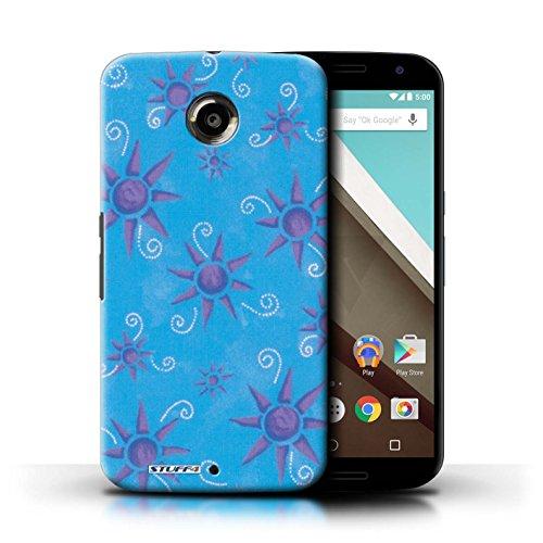 Kobalt® Imprimé Etui / Coque pour Motorola Nexus 6 / Violet/Rose conception / Série Motif Soleil Bleu/Violet