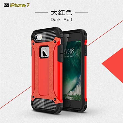 Zygeo - Starke Hybrid Tough Stoß- Rüstung Telefon zurück Fall für Das iPhone X Xr XS XS MAX Hart Rugged Schlag Abdeckung Funda [iPhoneXS Red] (Hybrid-rüstung 6 Iphone Fällen)