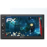 Sony XAV-AX100 Film Protecteur - 2 x atFoliX FX-Shock-Clear absorbant les chocs ultra clair Anti-choc Film Protecteur