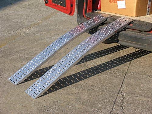 Auffahrschienen ohne Rand - Gebogen (3000mm lang x 300mm breit x 1000kg Kapazität)