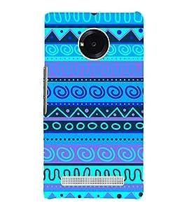 Indian Blue Tribal Art 3D Hard Polycarbonate Designer Back Case Cover for YU Yureka AO5510