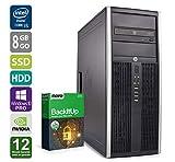 PC Gamer Multimédia Unité centrale - HP Elite 8300CMT - Nvidia Geforce GTX 1050 -Core i5-3470@3,2GHz-8 Go RAM - 1To HDD - 240Go SSD - Lecteur DVD - Win 10 PRO (Reconditionné Certifié)