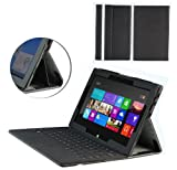 MiTAB Black Bicast Leather Case Cover Sleeve For The Microsoft Surface Rt & Windows 8 Pro 10.6 Inch Tablet