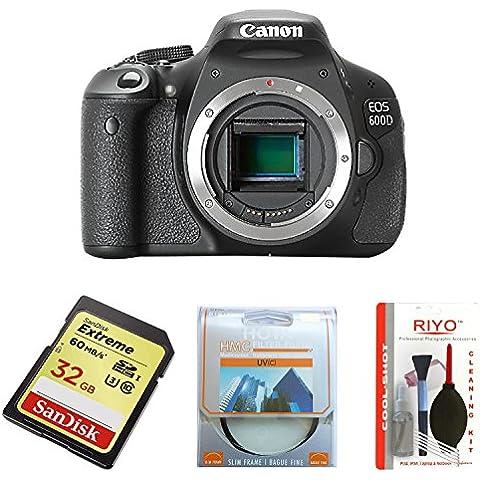 Canon EOS 600D - Cámara Réflex Digital 18.7 MP (Cuerpo)