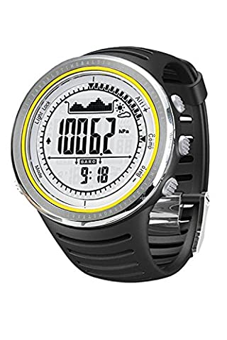 Sunroad FR802A 5ATM Waterproof Altimeter Compass Stopwatch Fishing Barometer Pedometer Outdoor Sports Watch Multifunction