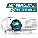 Proyector, TOPTRO 6200 Lúmenes Proyector Cine en Casa Full HD 1080P Nativo 1920x1080 Proyectores HD...