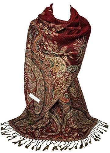 Gfm marchio sciarpa di design a mosaico in stile pashmina (msc) (s12-pnx-ghll)