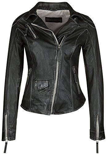 Freaky Nation Lederjacke BLIND TRUST 1 Large, black