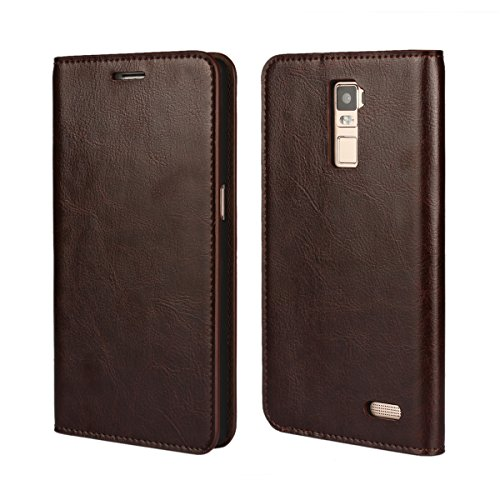 Banath Hülle für Oppo R7 Plus, PU Lederhülle Handyhülle Brieftasche[Stoßfest][Kreditkarten Slot][Magnetverschluss] Handy Schutzhülle Flip Cover(Dunkelbraun)