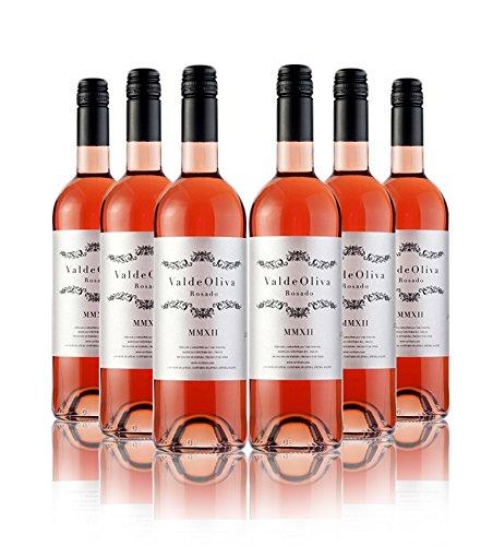 San Jamón Valdeoliva Rosado Vino De La Tierra De Castilla Y León - Paquete De 6 X 750 Ml - Total: 4500 Ml
