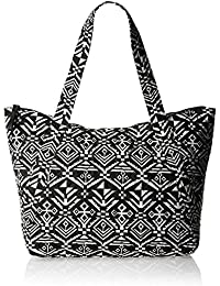 Madden Girl Tote Bag (Black and White Stripe) (MGTOTALL)