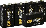 Batterien Lithium 9 Volt Block, 9v E-Block (U9VL, CR-9V, 6LR61) 10 Jahres Batterie Longlife (Markenware GP Batteries, 5 Stück Blockbatterien) Ideal für z.B. Rauchmelder, Messgeräte, Mikrofone Etc.