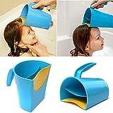 TianranRT Wasserfall Shampoo Spülen Pokal Baby Bad Pokal Waschen Haar Spülen Pokal Wasser Löffel