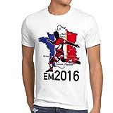 style3 EM 2016 Österreich Fan Herren T-Shirt Frankreich alle Spielorte Austria, Größe:L;Farbe:Weiß
