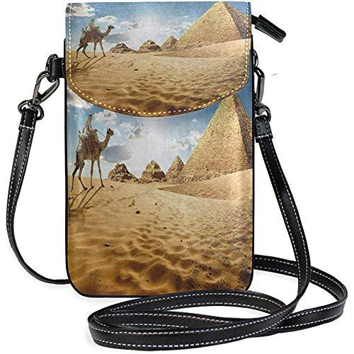 Kennedy Thomson Camel Pyramid Desert Women Kleine Umhängetasche Handytasche Mini Tote Schultertasche -