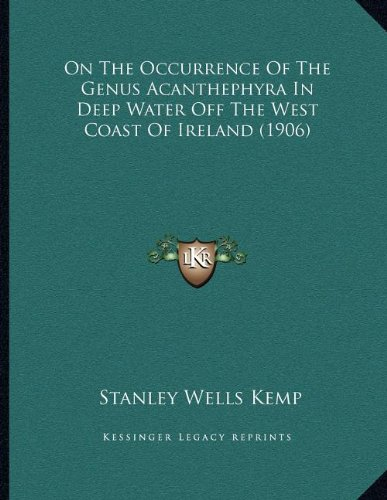 On the Occurrence of the Genus Acanthephyra in Deep Water Off the West Coast of Ireland (1906)